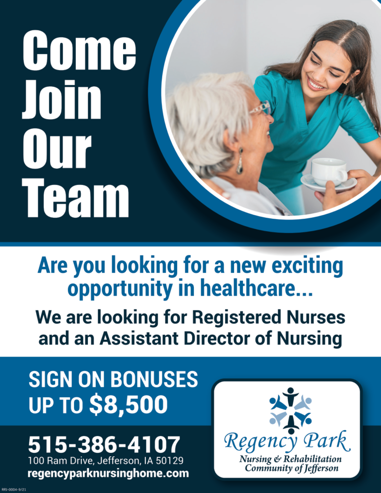 Regency Park Jefferson_Come Join Our Team AD_October 11 (1)